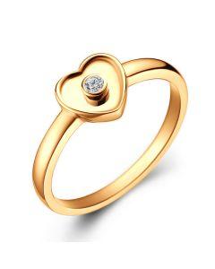 Bague Mon Coeur Pretty - Or Jaune & Diamant Serti Clos | Gemperles