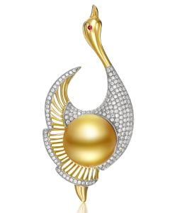 Pendentif Oiseau - Perle de culture - Perle d'Australie - Kingdom of Animals