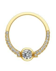 Solitaire Diamant Clos Le Méandre - Demi Tour en Diamants & Monture Or Jaune | Gemperles