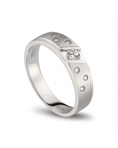 Bague alliance constellation diamantée - Platine - Femme | Talia