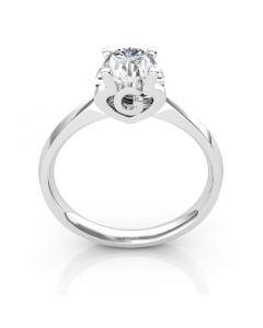 Bague prénom - Lettre G - Diamant, or blanc | Gemperles