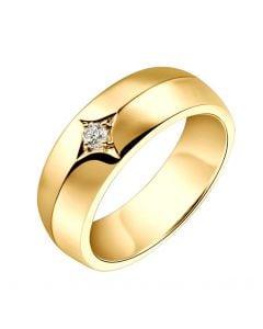Chevalière - Bague chevalière homme en or jaune - 1 diamant central   Borgia