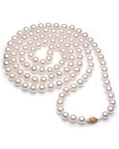 Collana di Perle Tamba - Akoya Giapponesi Bianche - 6.5/7mm, AA+   Gemperles