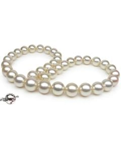 Collier perles d'Australie blanches - 10/12mm - AAB
