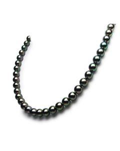Collier perle - Perles de culture japonaises - Akoya noire - 7/7.5mm