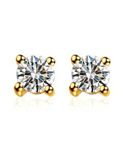 Puces diamants 0.20ct. Or jaune - Carat personnalisable