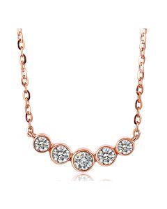 Collana Ciondolo Quintessenza - Oro Rosa & Diamanti 0.26ct | Gemperles