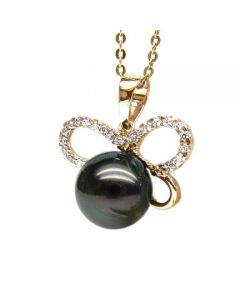 Ciondolo Cyclades - Oro Giallo, Diamanti e Perla di Tahiti