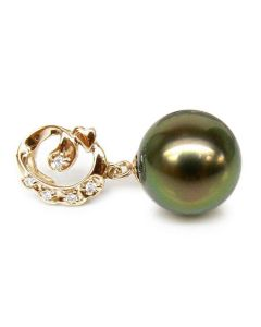 Ciondolo Originale Naxos - Oro Giallo, Perla di Tahiti