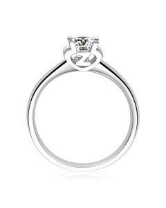Bague lettre Z en or blanc et diamant 0.25ct | Gemperles