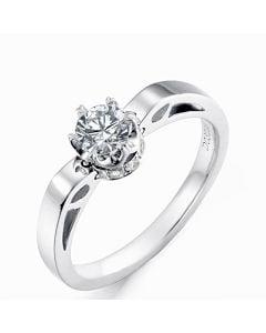 Bague Pendentif Delfino - Solitaire Or Blanc 18cts - Diamants VS/G | Gemperles