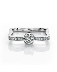 Bague solitaire or blanc - Diamants 0.48ct