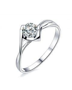 Solitaire Diamant 0.20 Carat - Victor Hugo, A Jeanne Platine   Gemperles