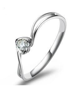 Solitaire Diamant Platine - J'ai Dit à Mon Cœur - Alfred De Musset | Gemperles