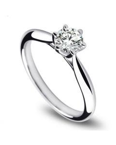 Solitaire Or Blanc, Diamant 0.25ct - L'Amour - Adélaïde DUFRÉNOY | Gemperles