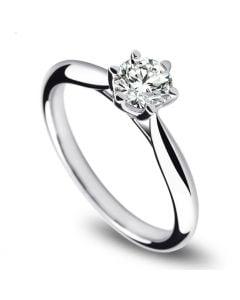 Solitaire Platine, Diamant 0.25ct - L'Amour - Adélaïde DUFRÉNOY | Gemperles