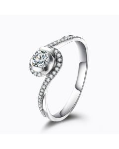 Solitaire Or Blanc & Diamants - Je t'appartiens | Gemperles