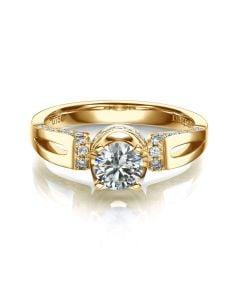 Anello di Fidanzamento Composto Darling - Oro Giallo & Diamanti | Gemperles