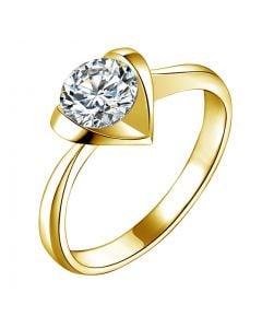 Anello di Fidanzamento Cuore Maestoso - Diamante Solitario & Oro Giallo | Gemperles