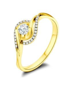 Bague Or Jaune Clarisse - Diamants 0.25 carat - Chateaubriand | Gemperles