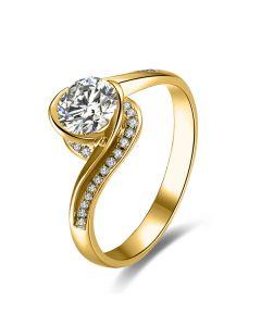 Diamants 0.57ct sur Solitaire Bague Or Jaune - A Une Madone | Gemperles