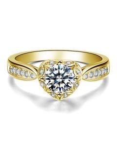 Bague Solitaire Your Best Friend - Or Jaune 18 Carats & Diamants   Gemperles