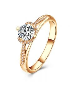 Bague Solitaire Amélia - Or Jaune 0.45ct & Diamant Central 0.35ct | Gemperles
