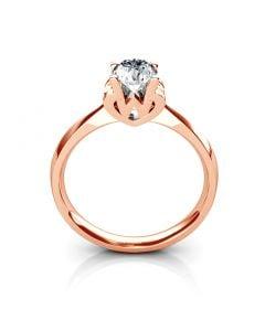 Bague prénom - Lettre W - Diamant, or rose | Gemperles