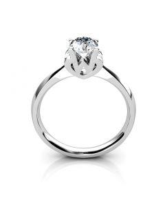 Bague prénom - Lettre W - Diamant, Or blanc | Gemperles
