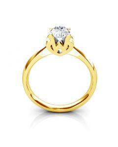 Bague prénom - Lettre W - Diamant, Or jaune | Gemperles