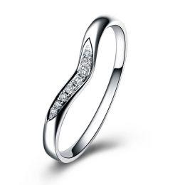 Alliance Ondulée Élysée - En Or Blanc et Diamants Sertis | Gemperles
