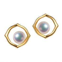 Boucle d oreille perle de culture - Perle Akoya Or jaune - Coco Chanel