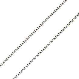 Chaîne vénitienne. Or blanc 55cm