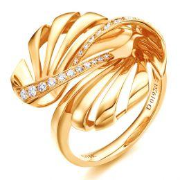 Bague originale or jaune 750/1000 - Diamants 0.192ct | Neptune