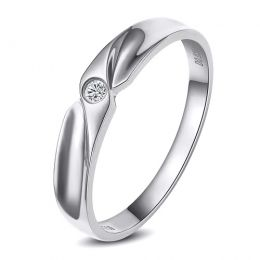 Alliance originale platine - Alliance Homme - Diamant