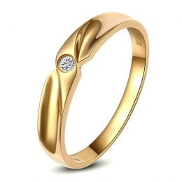 Alliance originale or jaune - Alliance Femme - Diamant