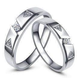 Alliances diamants - Or blanc - Alliances Duo