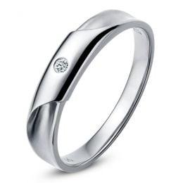 Alliance Homme - Platine - Diamant 0.045ct | Lucas