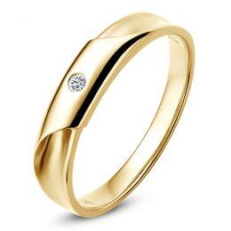 Alliance Homme. Or jaune. Diamant 0.045ct | Fraser