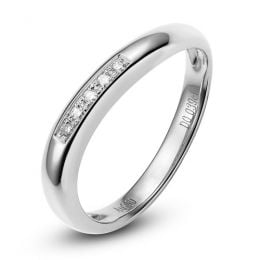 Alliance Femme. Platine. Diamants 0.040ct