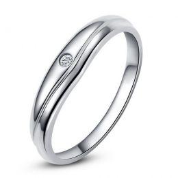 Modèle alliance mariage - Alliance classique Homme - Platine, diamant
