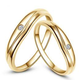 Modèles alliances mariage - Alliances duo classiques - Or jaune, diamants