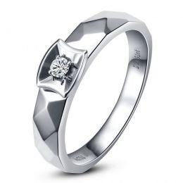 Alliance bague facettée - Alliance diamant Femme - Platine | Correspondance
