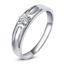 Alliance fleur d'or blanc et diamant - Alliance Femme | Olwen