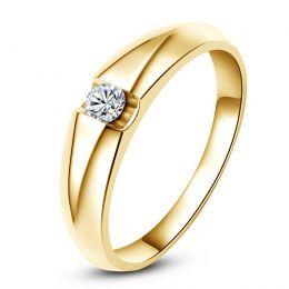 Alliance solitaire or jaune - Bague alliance diamant pour Homme   Marschall