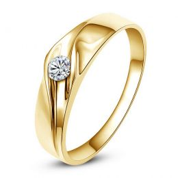 Alliance de fiançaille - Alliance or jaune pour Homme - Diamant
