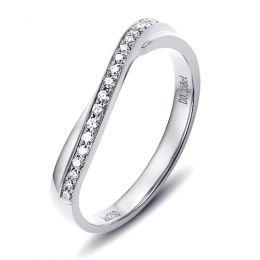 Alliance ondulée platine - Alliance femme avec diamants | Métis