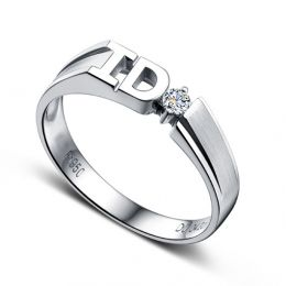Alliance I DO - Alliance femme Or blanc - Diamant