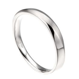 Alliance moderne Homme platine et Diamant | Ovidio