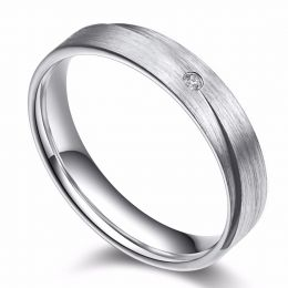 Alliance Sillage Amoureux Homme - Platine, Diamants | Gemperles